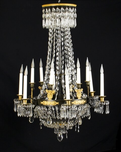 Antique French Empire 12 light Ballroom Chandelier C1850 19th Century | Ref. no. 09780 | Regent Antiques