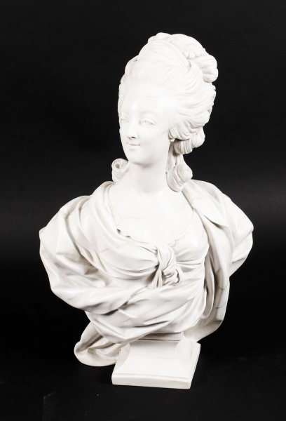 Beautifully Sculpted Composite Marble Bust of Marie Antoinette late 20th Cent | Ref. no. 09816d | Regent Antiques