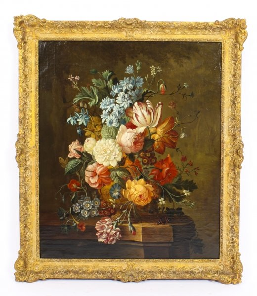 Antique Dutch School Floral Still Life Oil Painting Framed Late 18th C | Ref. no. 09824 | Regent Antiques