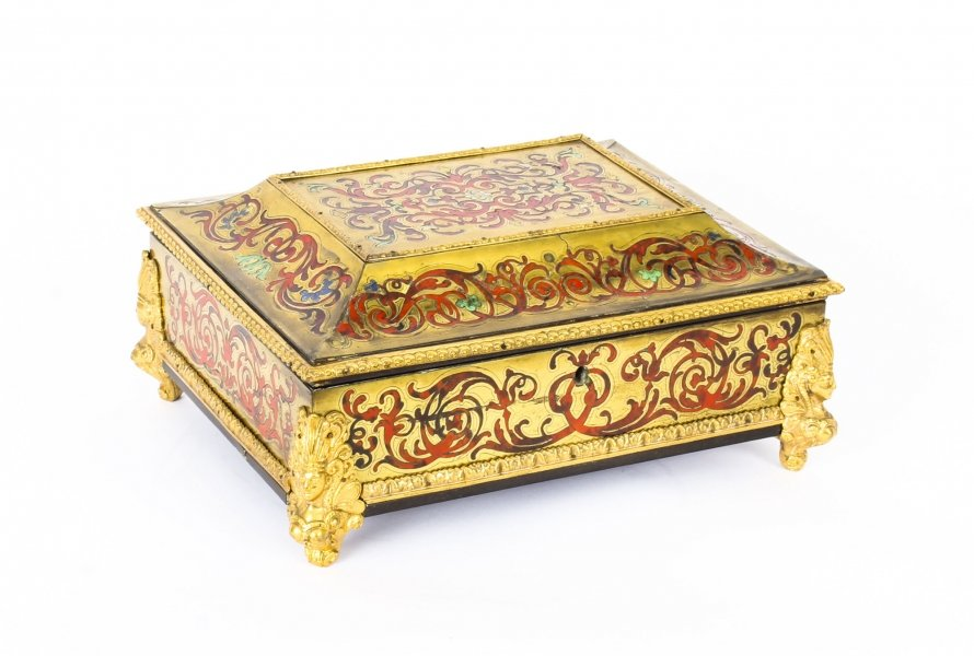 Antique French Tortoiseshell Boulle Ormolu Mounted Jewellery Casket c.1860 | Ref. no. 09834W | Regent Antiques