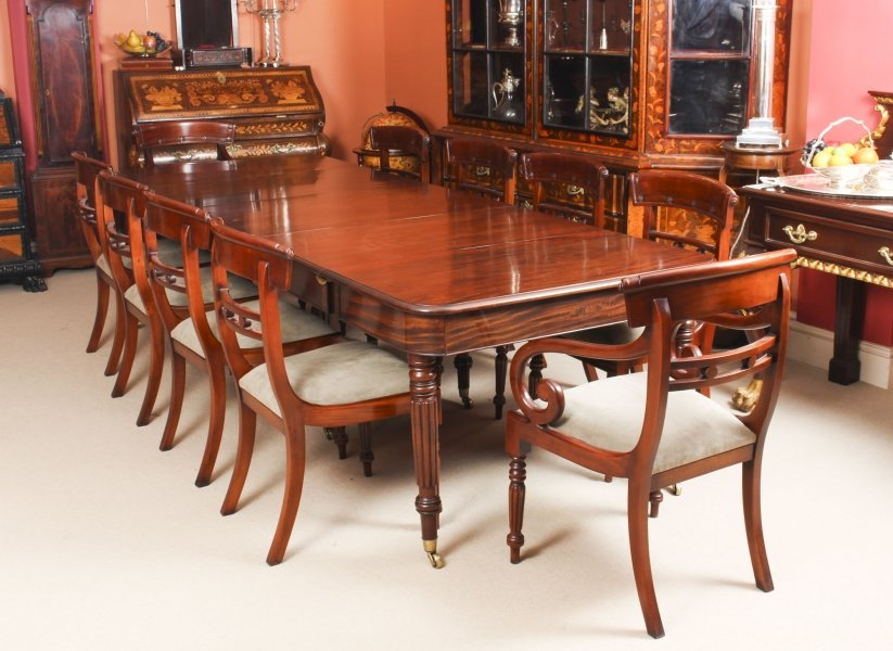 Antique Regency Dining Table Manner of Gillows 19th C & 10 chairs | Ref. no. 09870a | Regent Antiques