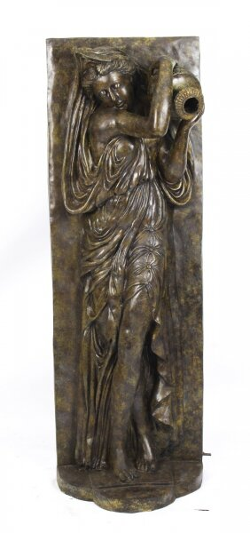 Vintage Large Bronze Statue Fountain of Classical Lady with Amphora Late 20th C | Ref. no. 09878b | Regent Antiques