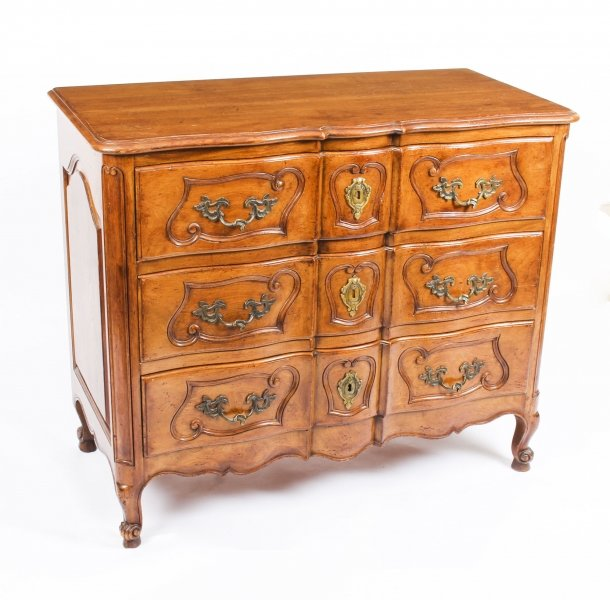 "Antique French Louis Revival Provencale ""Arbalete\"" Commode Chest c.1880 