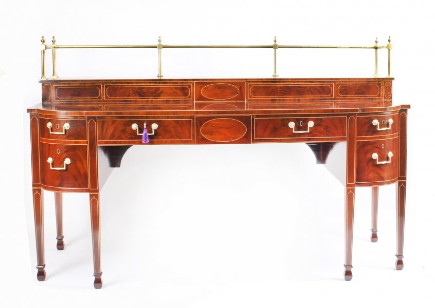 Antique George III Scottish Mahogany and Line Inlaid Bowfront Sideboard Ca 1790 | Ref. no. 09895 | Regent Antiques