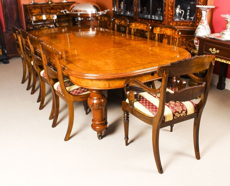 Antique Pollard Oak Victorian Extending Dining Table 19th C & 10 Chairs | Ref. no. 09898a | Regent Antiques