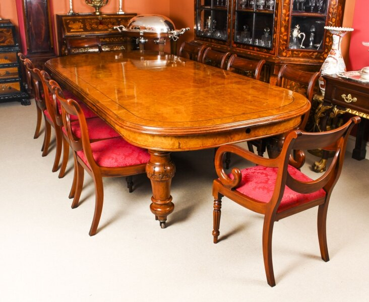 Antique  Pollard Oak Victorian Extending Dining Table 19th C & 10 Chairs | Ref. no. 09898b | Regent Antiques