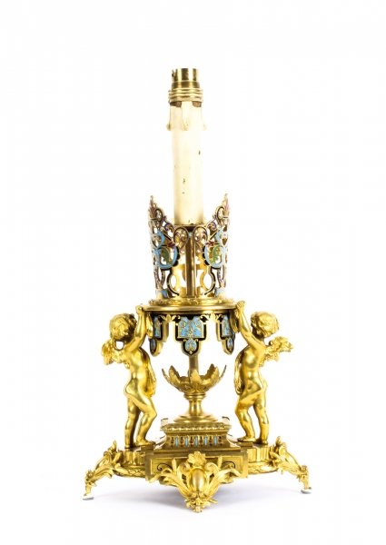 Antique French Ormolu & Champleve Enamel Table Lamp 19th Century | Ref. no. 09970 | Regent Antiques