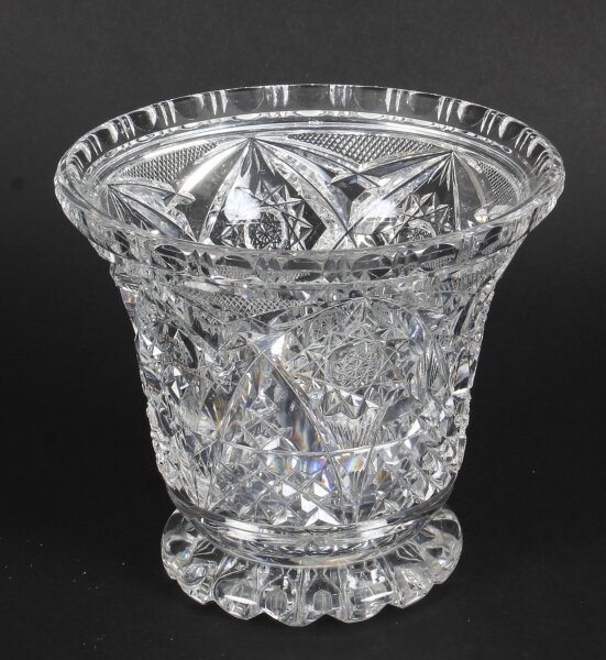 Vintage Cut Glass Crystal Glass Vase  Mid 20th Century | Ref. no. A1082 | Regent Antiques