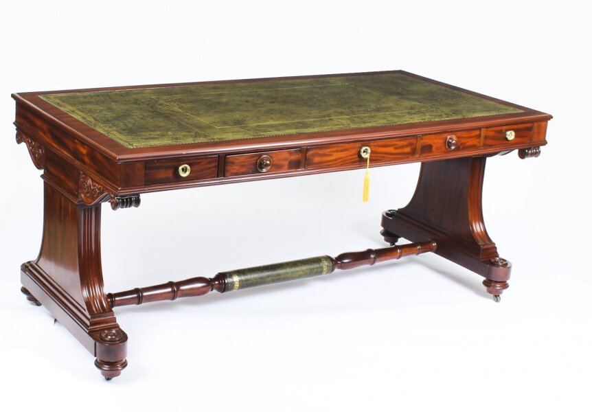 Antique Victorian Flame Mahogany Writing Library Centre Table 19th C | Ref. no. A1191 | Regent Antiques