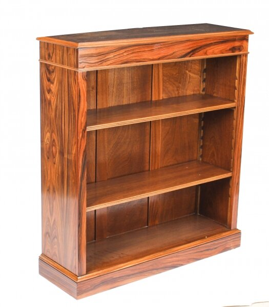 Bespoke Mid Century Modernist Revival Low Rosewood Open Bookcase | Ref. no. A1227b | Regent Antiques