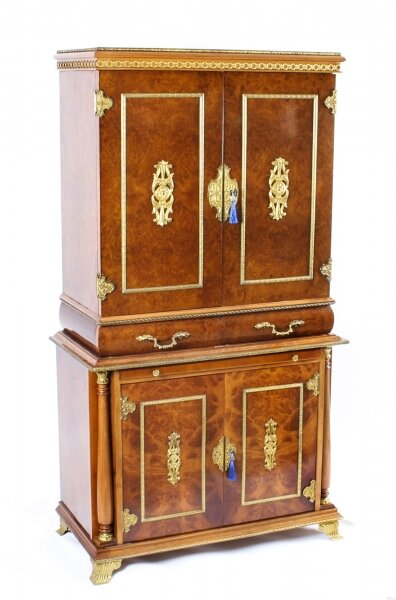 Vintage Meuble Francais ormolu mounted burr walnut cocktail cabinet 20th Century | Ref. no. A1235 | Regent Antiques