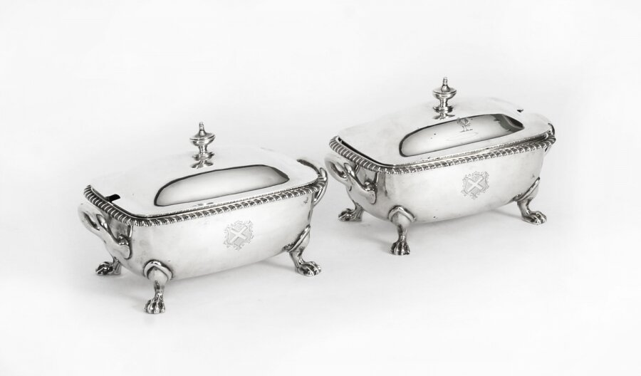 Antique Pair English Sterling Silver Sauce Tureens Garrard & Co 19th Century | Ref. no. A1239 | Regent Antiques