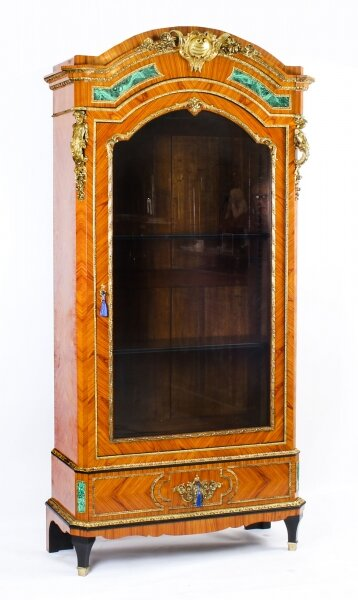 Antique French Kingwood Malachite & Ormolu Mounted Vitrine Cabinet 19th C | Ref. no. A1292 | Regent Antiques