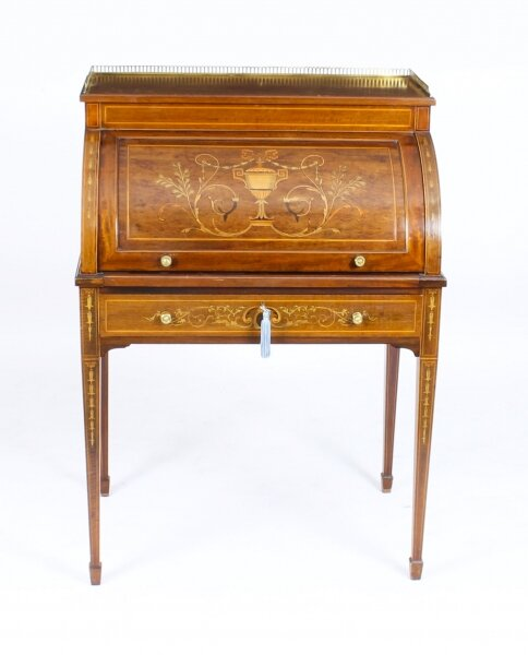 Antique Victorian Mahogany Cylinder Bureau Desk 19th Century | Ref. no. A1321 | Regent Antiques
