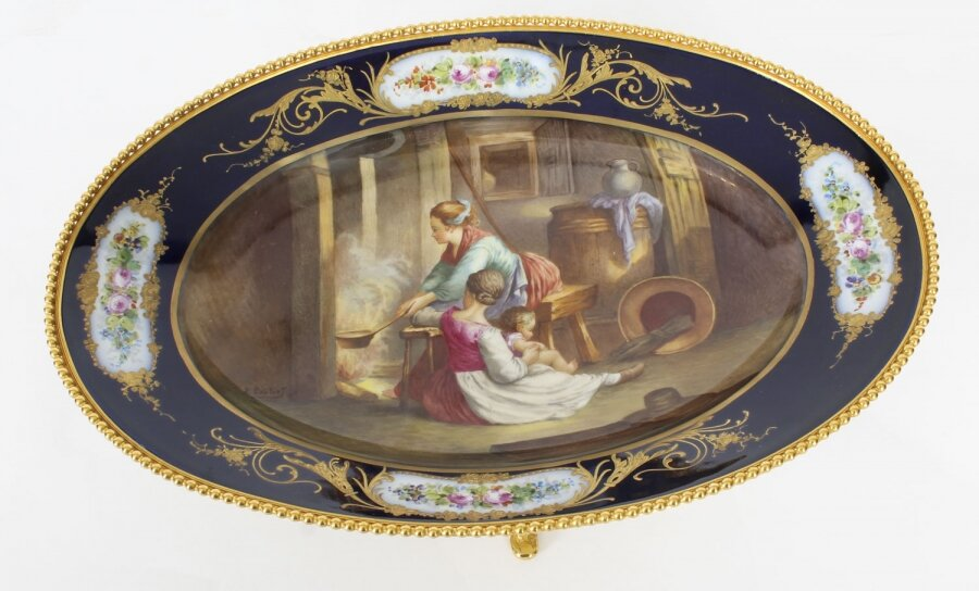 Antique Sevres Porcelain Ormolu Mounted Oval dish 19th Century | Ref. no. A1339 | Regent Antiques