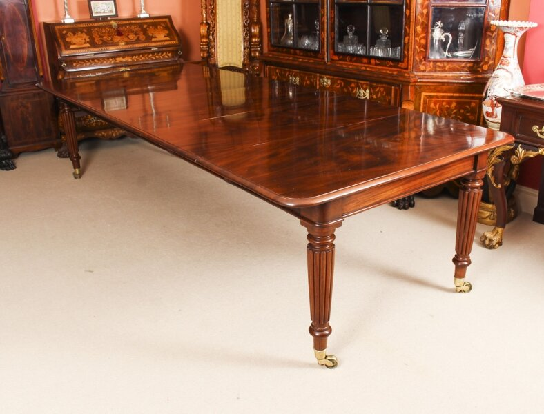Antique 11ft Regency Flame Mahogany Extending Dining Table C1820 19th C | Ref. no. A1344 | Regent Antiques