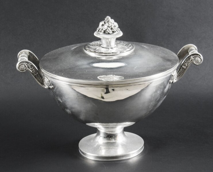 Antique Sterling Silver Tureen by Marc Jacquard Retailed by Bulgari Circa 1810 | Ref. no. A1390 | Regent Antiques