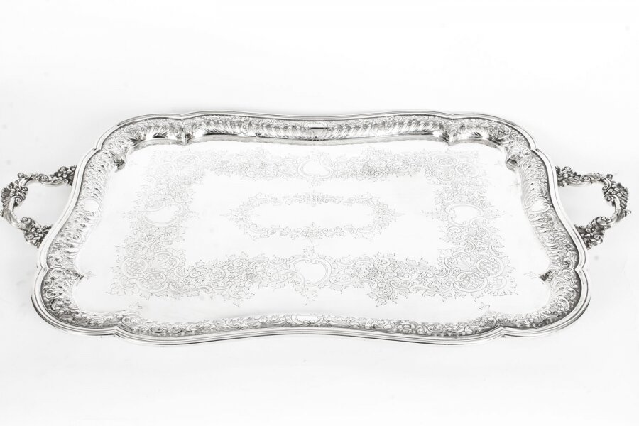 Antique Large Victorian Silver Plated Twin Handled Tray 1880 19th Century | Ref. no. A1391 | Regent Antiques