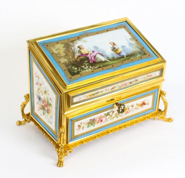 Antique Sevres Porcelain Desktop  Correspondence Casket Stationery Box 19th C | Ref. no. A1404 | Regent Antiques