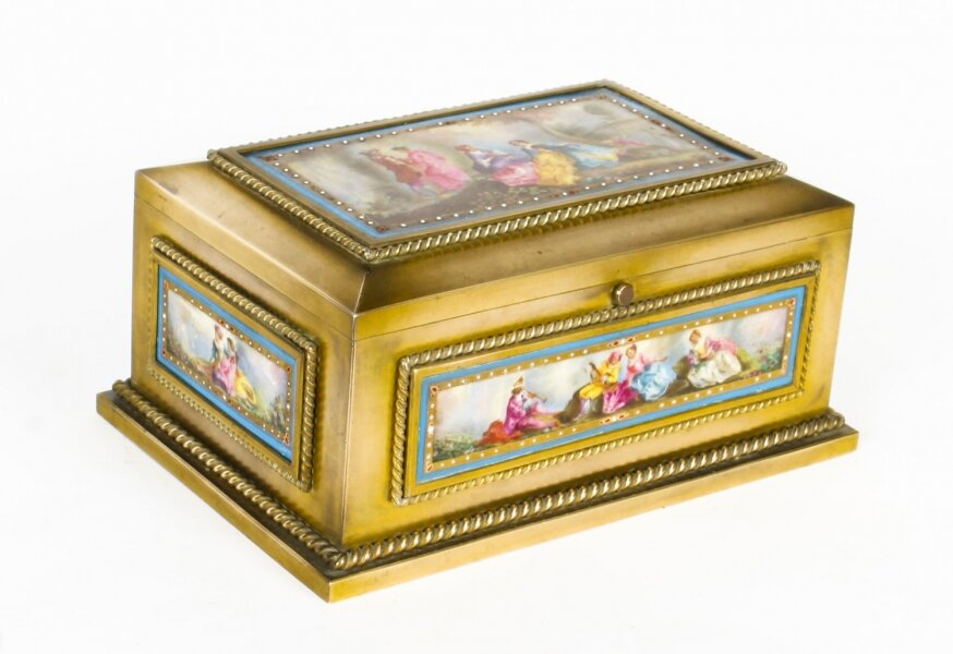 Antique French Ormolu & Sevres Porcelain Jewellery Casket C1880 19th C | Ref. no. A1425 | Regent Antiques