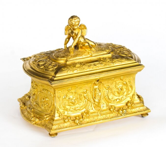 Antique Monumental  French Ormolu Casket With Cupid 19th Century | Ref. no. A1431 | Regent Antiques