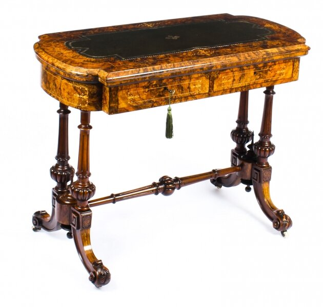 Antique Burr Walnut & Marquetry Combination Writing & Card Table  19th C | Ref. no. A1434 | Regent Antiques