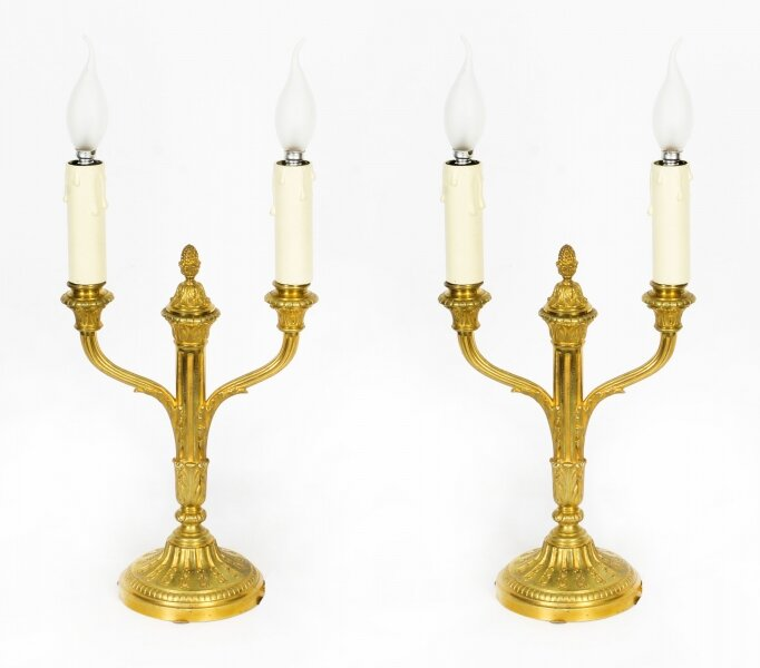 Antique Pair French Neo-classical Ormolu Candelabra Table Lamps C1840 19th C | Ref. no. A1463 | Regent Antiques