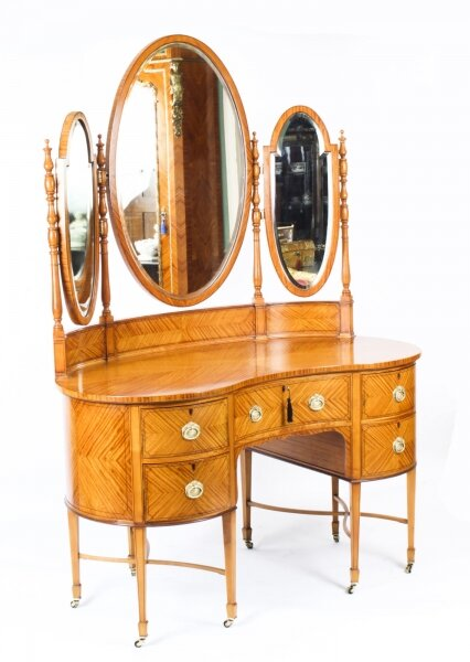 Antique Satinwood Kidney Dressing Table Att Maple & Co 19th C | Ref. no. A1548a | Regent Antiques
