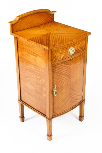 Antique  Satinwood & Inlaid Bedside Cabinet c.1880 19th Century | Ref. no. A1548c | Regent Antiques