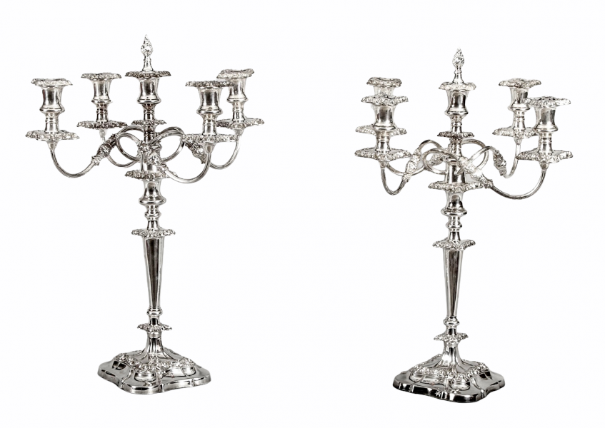 Antique Pair Five Light Candelabra by Mappin & Webb 19th C | Ref. no. A1603 | Regent Antiques