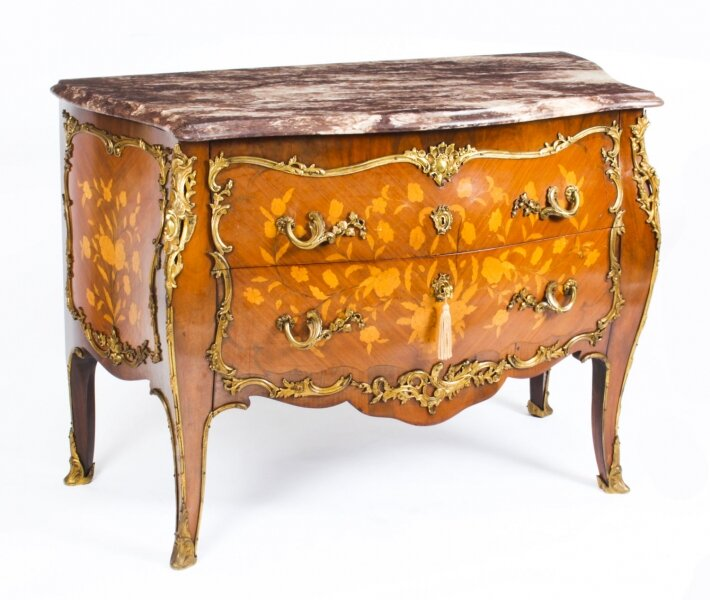 Antique French Louis XV Revival Marquetry Commode Chest 19th Century | Ref. no. A1695 | Regent Antiques