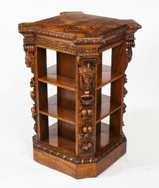 Antique Burr Walnut Freestanding Library Bookcase After Gillows Early 19th C | Ref. no. A1776 | Regent Antiques