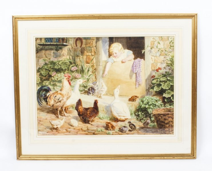 Vintage Large Medici Society Print by Helena Maguire Late 20th Century | Ref. no. R0014 | Regent Antiques