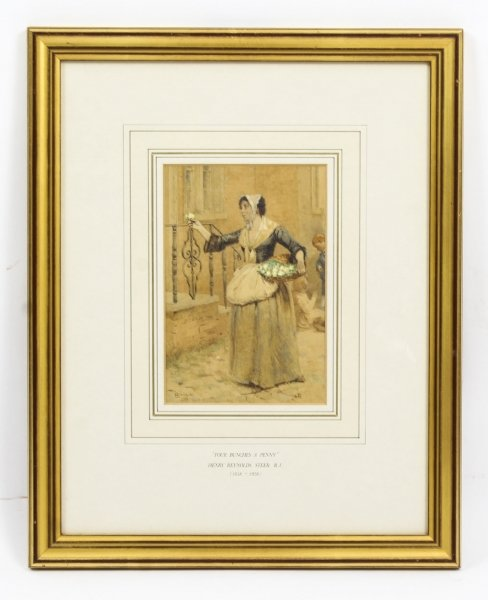 Antique Watercolour  19th C by Henry Reynolds Steer Dated 1880 | Ref. no. R0026 | Regent Antiques