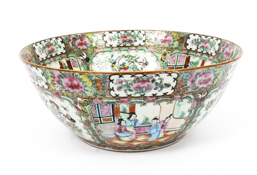 Antique Large Chinese Export Canton-Famille Rose Bowl C1850 19th Century | Ref. no. R0040 | Regent Antiques