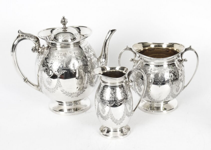 Antique Silver Plated  Three Piece tea Set Atkin Brothers 19th Century | Ref. no. X0006 | Regent Antiques
