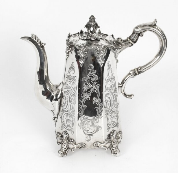 Antique Victorian Silver Plated Coffee Pot 19th Century | Ref. no. X0031 | Regent Antiques