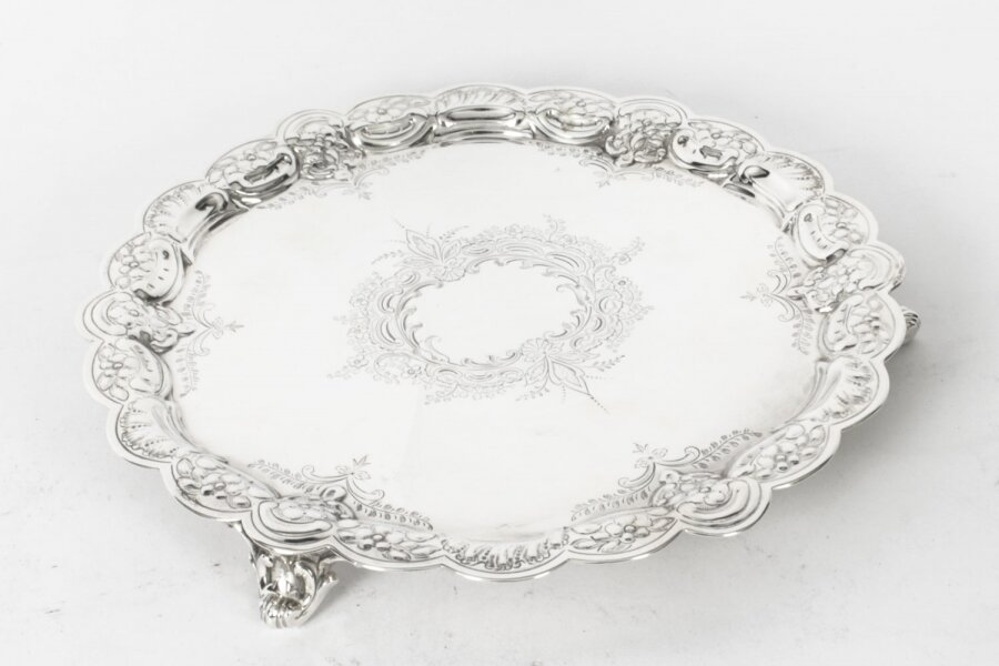 Antique Victorian Silver Plated Salver 19th Century | Ref. no. X0037 | Regent Antiques