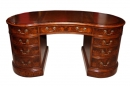 Bespoke Burr Walnut Kidney Desk in Victorian Style