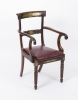 Antique Regency Brass Marquetry Elbow chair armchair C1815
