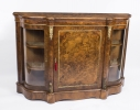 Antique Victorian Burr Walnut Inlaid Ormolu Mounted Credenza