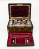 Antique Burr Walnut Lady& 39 s Vanity Travelling Case c1860