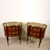 00248-Pair-French-Louis-XV-Mahogany-Walnut-Bedside-Cabinets