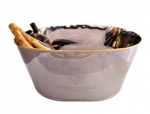 Large 8 bottle Silver Plated Wine Cooler Ice Bucket