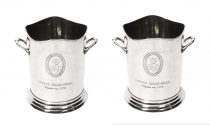 Gorgeous Pair Roederer Silver Plated Champagne Coolers