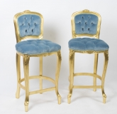 A Bespoke Pair Giltwood Louis Revival Bar Bar chairs