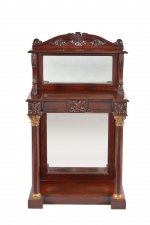 Antique William IV Mahogany Marble Top Console Table C 1835