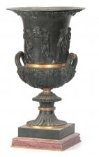 Antique Grand Tour Borghese Bronze Campana Urn 19th C