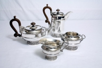 Antique Silver Tea & Coffee set in style of Paul Storr by James Dixon 1910